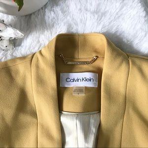 Calvin Klein chic yellow blazer jacket career work